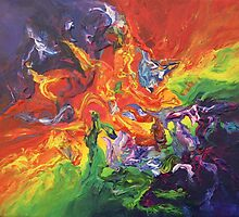 """""""Explosion"""" original artwork by Laura Tozer by Laura Tozer"""
