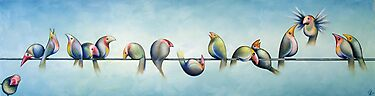 Finches On Parade by Karsten Stier
