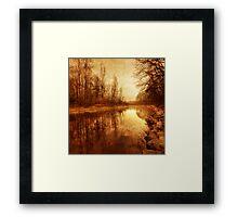 Floating Down The River Framed Print