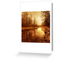 Floating Down The River Greeting Card