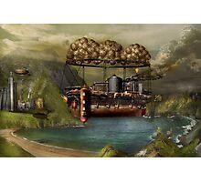 Steampunk - Airship - The original Noah's Ark Photographic Print