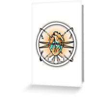 Burning Bound Emotion - Lighter Colored Greeting Card