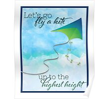 Let's Go Fly a Kite! Inspired by Mary Poppins Poster
