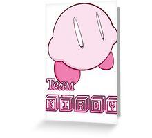 Team Kirby Greeting Card