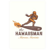 "The ""Hawaiisman"" Trophy Winner Marcus Mariota  Art Print"