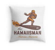"The ""Hawaiisman"" Trophy Winner Marcus Mariota  Throw Pillow"
