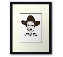 Christopher Walken - Walken, Texas Ranger Framed Print