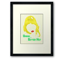 FAT AMY Framed Print