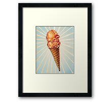 Strawberry Double Scoop Framed Print