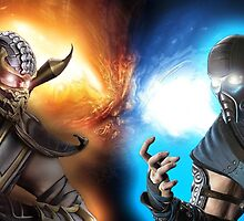 Subzero Vs. Scorpion  by rampagegraphics