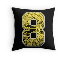 Marcus Mariota Samoan Print Oregon Ducks  Throw Pillow