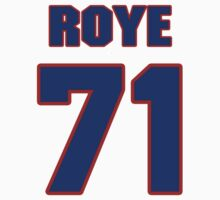 National football player Orpheus Roye jersey 71 by imsport
