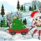 A Christmas Fairy in winter wonderland  by Ann12art