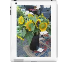 Sunflowers at the Farmer's Market iPad Case/Skin