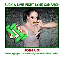 Suck a lime fight Lyme 2 (for light colors) by JaedaRenaeGifts