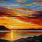 Sunset by leonid afremov