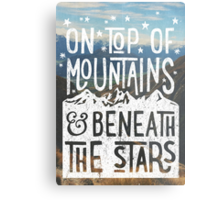 On Top Of Mountains Metal Print