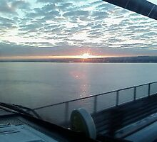 Sun Rise On The Humber Bridge by patroby