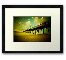 peering into the day Framed Print
