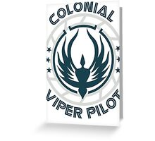 Colonial Viper Pilot Greeting Card
