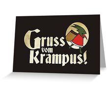 Gruss vom Krampus! Greeting Card