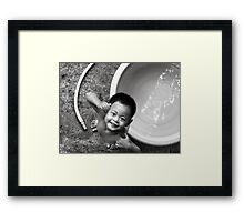 Clean & Happy About It Framed Print