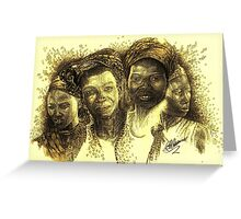 Africa's Untapped Natural Resources - Sepia Greeting Card