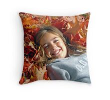 Autumn Princess Throw Pillow