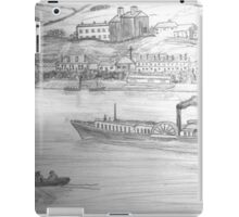 My Pencil Drawing of a Paddle Steamer on the Danube - all products bar duvet iPad Case/Skin