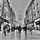 Grafton street at christmas time-Ireland by DES PALMER