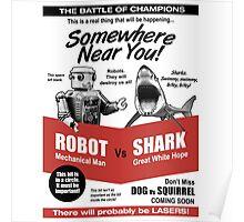 Robot vs. Shark Poster