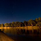 River Murray At Night by Darren Wright
