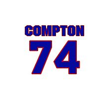 National football player Mike Compton jersey 74 Photographic Print