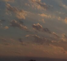 HDR Composite - Sunset in Pastel Rays by wetdryvac