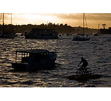Bicycling In Sydney Harbour Photographic Print