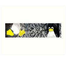 Penguin Linux Tux art graphic Art Print
