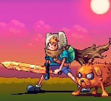 Adventure Time Pixel Trip Big Size by KumaGenis