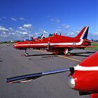 Red Arrows Flightline by Chris Ayre