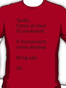 Superwholock Text Black T-Shirt