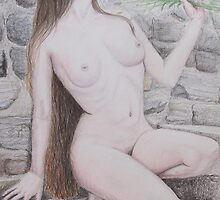 Nude with Lavender by Davybee
