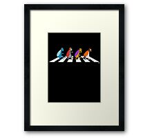 Beetles on Abbey Road Framed Print