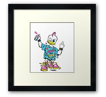 Punks not dead. Duck punk. Punk is not dead. Framed Print