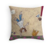 Acrobatics I Throw Pillow