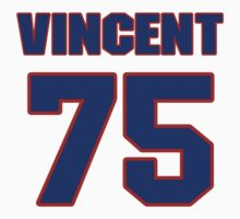 National football player Ted Vincent jersey 75 by imsport