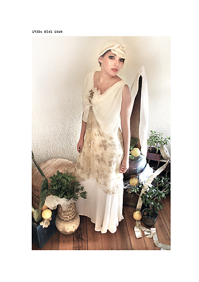 1930s bias gown by Tane