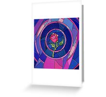 Beauty And The Beast Rose Flower Greeting Card