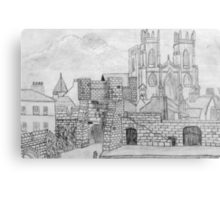 My Pencil Drawing of Bootham Gate and York Minster - all products Canvas Print