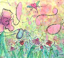 God is Good Whimsical Watercolor Painting by gretchenann