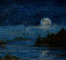 Echo Lake by moonlight in the Summer by Edward Huse