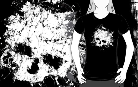 Splat Skull t shirt by iEric